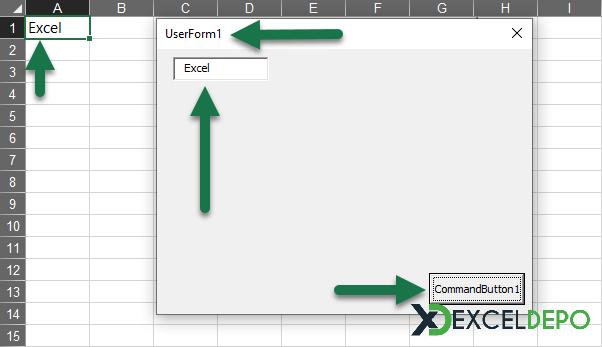 UserForm Üzerinden Hücreye Kayıt Yapma