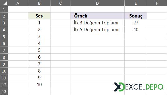 Top X Değerleri Toplama