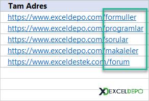 Web Adresinin Uzantısını Alma