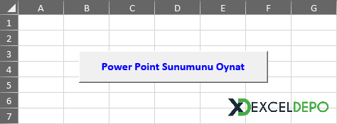Power Point Sunumu Excel'de Oynatma