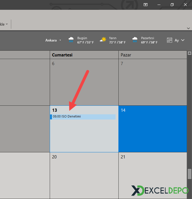 Excel ve Outlook Entegrasyon Programı