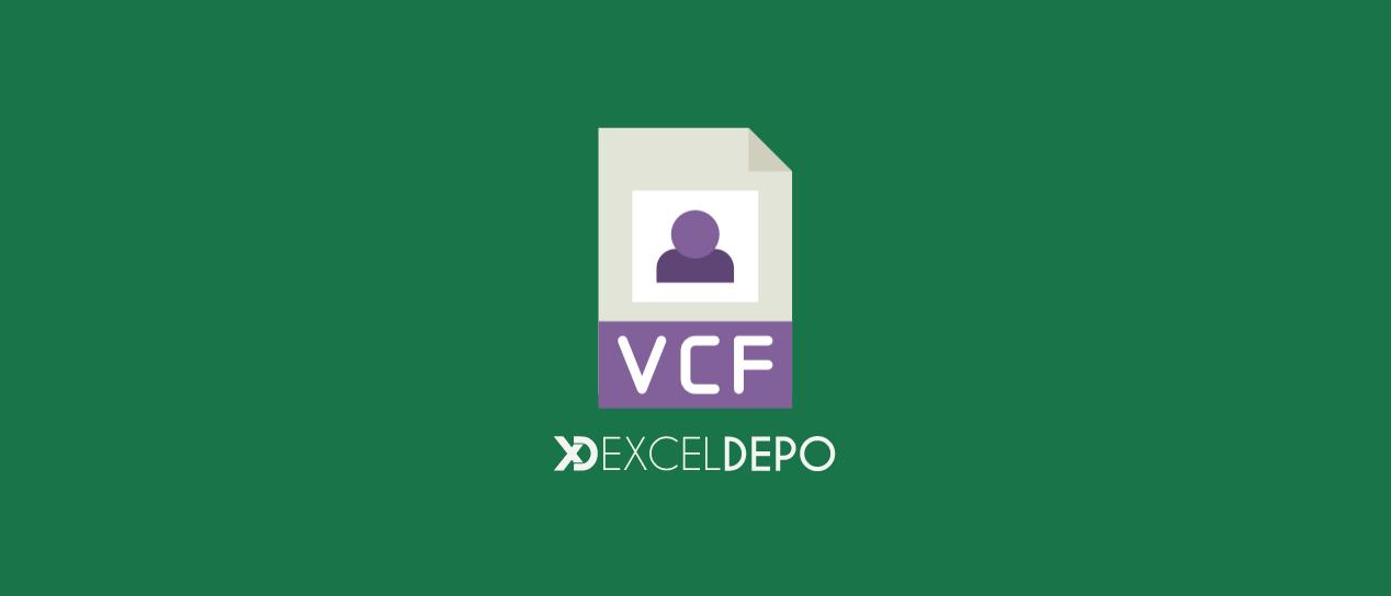 Excel Dosyasını VCF Biçimine Dönüştürme