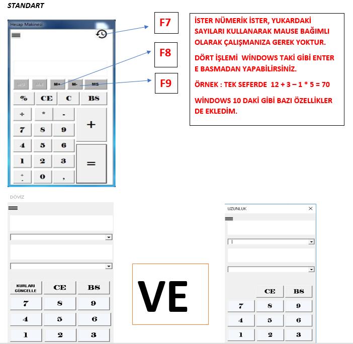 Excel'de Hesap Makinesi