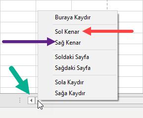 Excel Sayfasında Hızlı Seçim Yapma