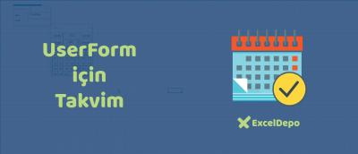 UserForm için Takvim