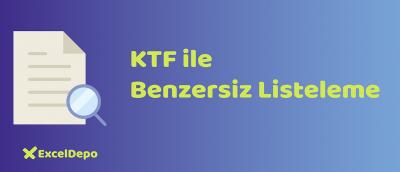 KTF ile Benzersiz Listeleme