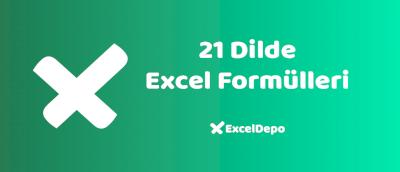 21 Dilde Excel Fonksiyonları
