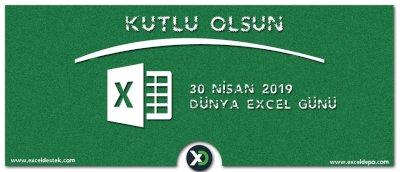 30 Nisan Dünya Excel Günü
