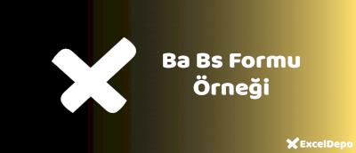 Ba Bs Formu Örneği