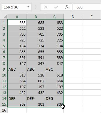 Örnek Excel Tablosu